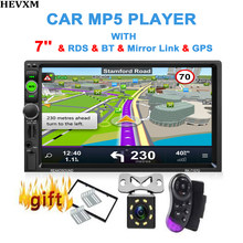 HEVXM 2 Din Universal Window Car DVD Player HD LCD Touch Screen Bluetooth Car Radio 1080P Video Remote Control USB Car Stereo(China)