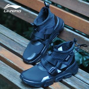 Image 1 - Li Ning Women SURVIVER K Walking Shoes Mid cut Zipper Buckle Leisure Durable Anti slip LiNing Sport Sneakers AGLP046 SJFM19