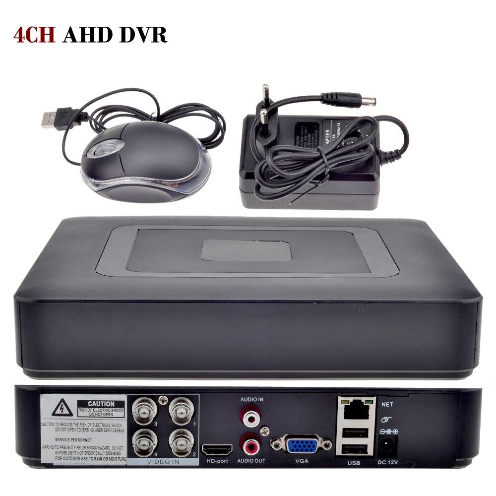 4CH AHD DVR AHDNH 1080N DVR Surveillance  5 IN 1 AHDM TVI CVI CVBS 960H Mini Hybrid Security CCTV DVR HDMI DVR NVR 5 in 1 ahd 1080n cvi tvi cvbs nvr 4ch