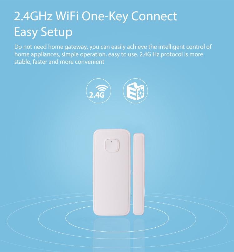 Wifi Door Sensor Window Sensors Alexa Google Home mini IFTTT Alarm Security  Smart Life Phone APP Remote Control