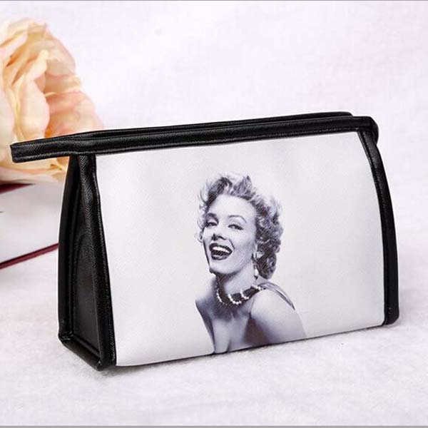 New 2016 Women Fashion Messenger Bags Women Leather Handbags Marilyn Monroe Printed Cosmetic Bags & Cases Three Type Makeup Bag