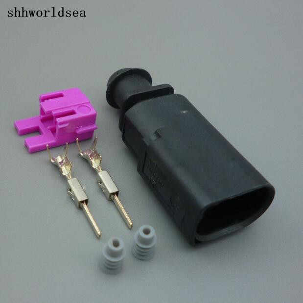 shhworldsea 2/5/30/100sets trunk plug connector 1J0973802 , for Audi  ignition coil connector 1J0 973 802 for vw