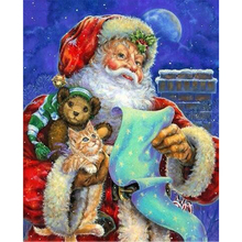 NEW 5D DIY Diamond Painting Embroidery Full Santa Claus Cross Stitch Rhinestone Mosaic Christmas Home Decor Gift AS867