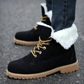 High Top Velvet Men Winter Ankel Boots Cow Muscle Anti Slip Bottom 2016 Winter New Solid Lacing Male Snow Boots Casual Shoes