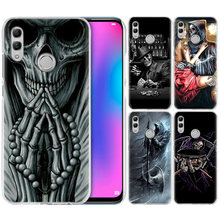Grim Reaper Skull สำหรับ Huawei Honor 8X Y9 9 10 Lite เล่น 8C 8S 8A Pro V20 20i 10i Y6 Y7 2019 CLEAR Hard PC Coque(China)