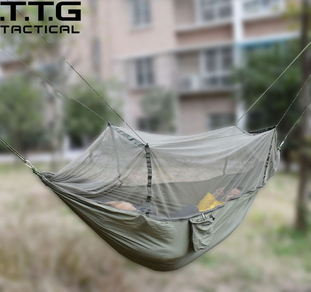 ultralight camping hammock with integrated zipper portable lightweight camping survival hammock with mosquito   ultralight camping hammock with integrated zipper portable      rh   aliexpress