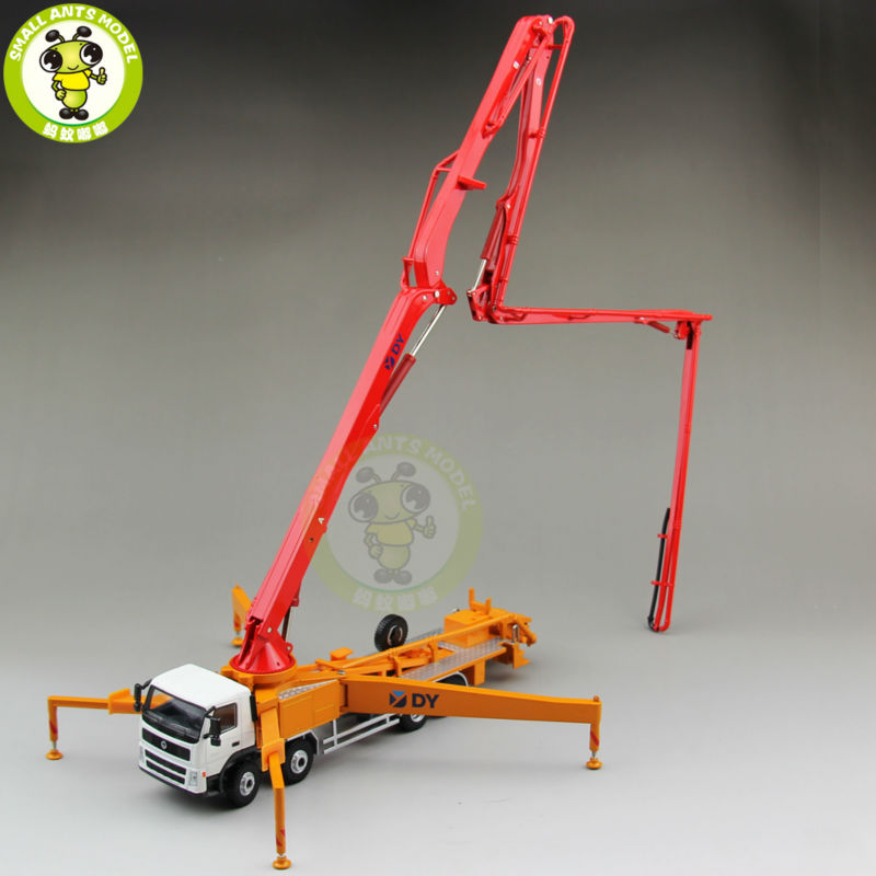 1/50 DY Actros Concrete Pump Truck Construction Machinery Diecast Model Car Red world of warcraft dark riders