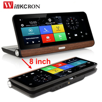 Best 8 Touch 4G Car DVR Camera GPS Navigation Android 5.0 WIFI Bluetooth FHD 1080P Dual Lens Rearview Camera DVR Video Recorder