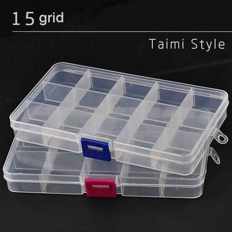 Plastic Box Storage Drawer Type Model Tool Organizer Jewelry Container Blue