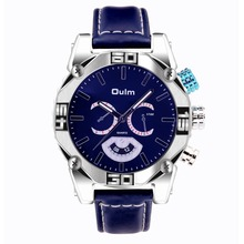 font b Oulm b font Brand 3694 Mens Big Face Watches Leather Band Casual Quartz