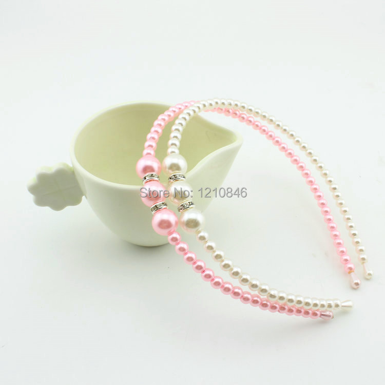 Mother & Kids Wedding Pearl Barrette Hairbands Accessories Head Jewelry Girl Kids Pearl Headboard 300pcs/lot 100% Original Girls' Clothing