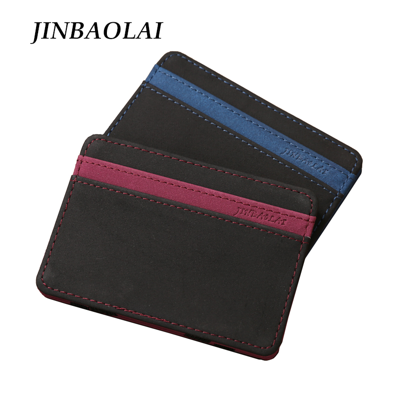 Fashion Men Leather Wallet Slim Magic Money Clip Credit Card Case Cash Holder Magic Flip Wallet Mini Purse