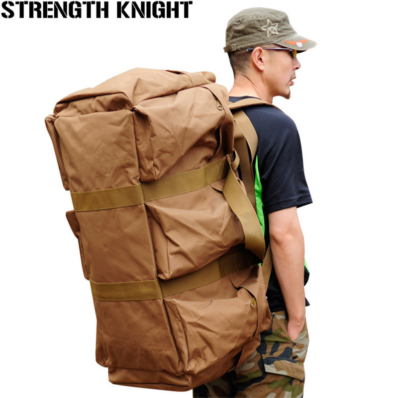 70L Men's Large Capacity Backpack Camouflage Shoulder Bag Women Mountaineering Backpack Nylon Waterproof Travel Bag nylon color splicing camouflage pattern shoulder bag
