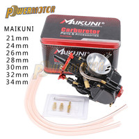 21 24 26 28 30 32 34mm Motorcycle Engine Part Universal Black Mikuni Maikuni PWK Carburetor Parts Scooters With Power Jet ATV