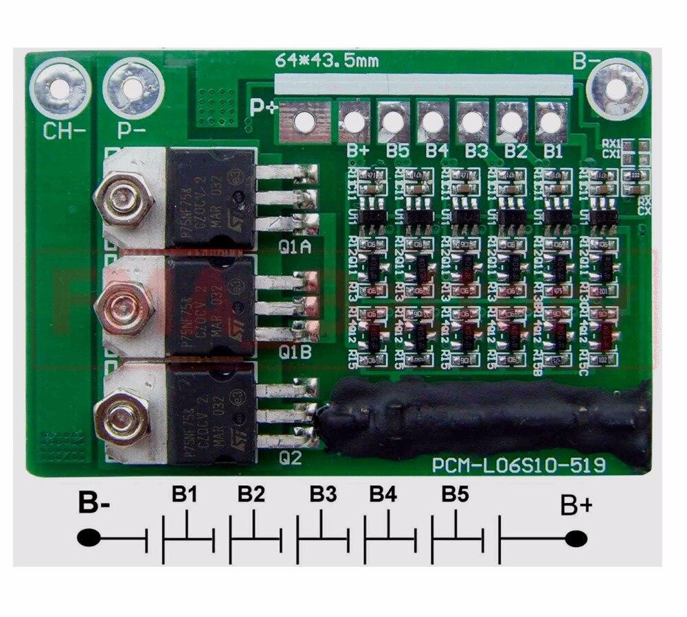 Schutz Schaltung Management Modul PCM für 6 S 22,2 V 21,6 v Li Po ...