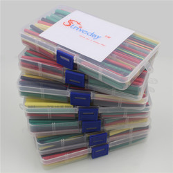 Striveday 180Pcs 1.5MM 2.5MM 3MM 4MM 5MM 6MM 8MM 10MM  Heat Shrink Tube Tubing Kit Box Sleeving Wrap Wire Cable Heat Shrinkable