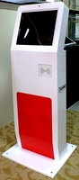 School attendance time recording IC/ID/Radio frequency Card/ face Recognition pc kiosk with 19 inch touch monitor screen