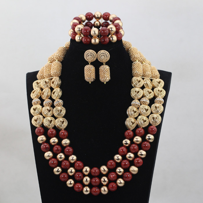 Beauty Heart-shaped Accessories 2016 Nigerian African Wedding/Party Bridal/Women Beads Necklace Jewelry Set Free Shipping CJ796 free shipping the new popular wedding special heart shaped acrylic podium organic glass church pulpit