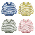 The boy in the striped shirt sweater children all-match Korean spring installed 2017 new spring coat baby clothes