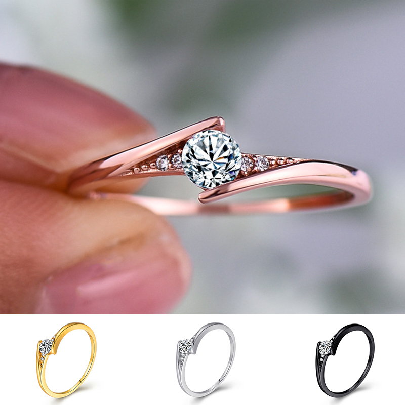 Korean Style Female Small Round Engagment Ring 100% Real 925 Sterling Silver Ring Boho Vintage Wedding Rings For Women