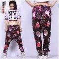 New fashion Jazz harem women hip hop sweatpants dance loose costume trousers personality Galaxy cosmo print Nebula casual pants