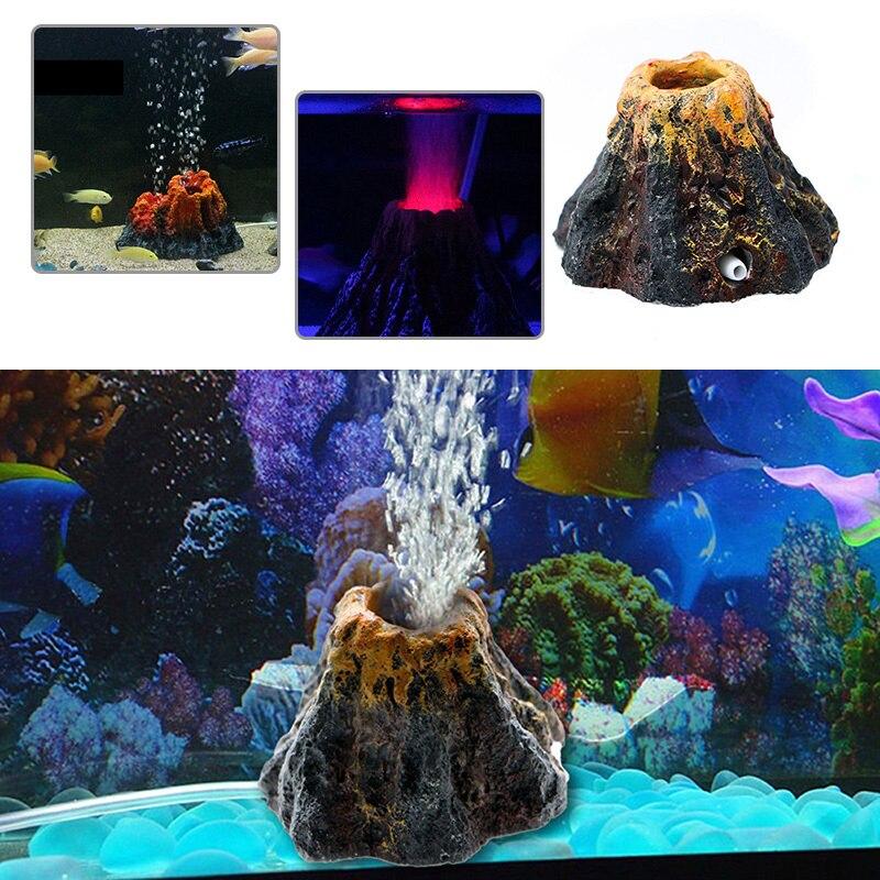 Vertrouwend Aquarium Ornament Hars Ornament Zuurstof Pomp Air Pumpair Simulatie Bubble Steen Aquarium Vulkaan Vorm Decoratie Speelgoed