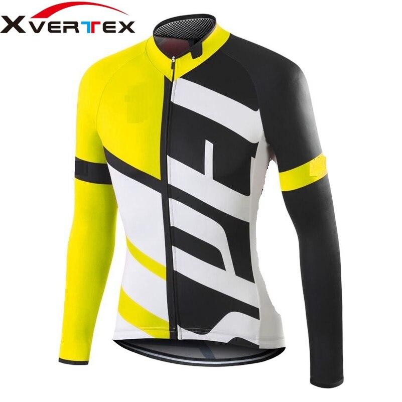 Цена за Новый 2017 Команда велоспорт одежда Мужская ropa ciclismo весна велосипедов ездить одежда SL PRO с длинным рукавом Джерси дорожный велосипед велоспорт джерси