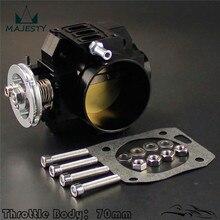 Cuerpo de acelerador de 70mm para honda k-series/ K20 /Civic/ EP3/ Type R/DC5 Integra, color negro