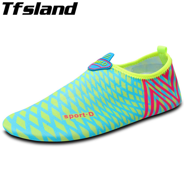 1b6fc176b Men Women Beach Aqua Shoes Outdoor Sport Swimming Fins Water Shoes Adult  Soft Seaside Wading Quick-drying Shoes Snorkeling Boots