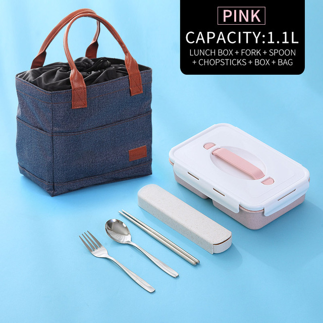 Pink Bag Tableware Cheap bento boxes silicone collapsible 5c6479e2ed796