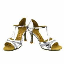 YOVE Dance Shoes Women's Latin/ Salsa Dance Shoes 3.5″ Flare High Heel More Color w1610-39