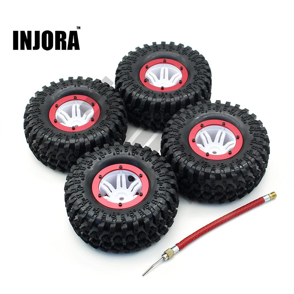 4pcs 22 inch air pneumatic tires u0026 beadlock wheel rim for 110 rc rock - Pneumatic Tires