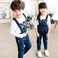 2016 Autumn New Wild Boy Pants Boys Jeans Older Children Overalls Ripped For Kids