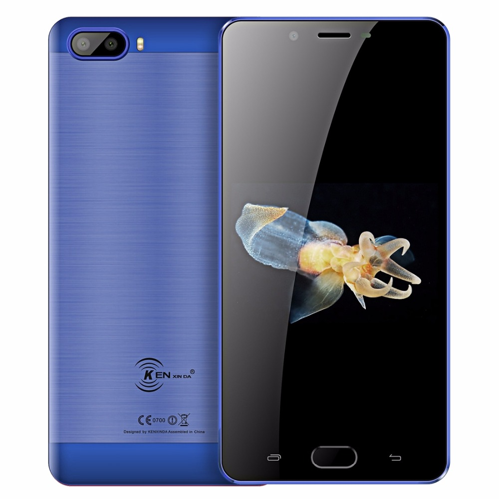 "KenXinDa S9 Android 7.0 Mobile Phone 5.5"" HD MTK6737 Quad Core 2GB RAM 16GB ROM 13MP+8MP 5000mAh Battery 4G LTE Unlock Cellphone"