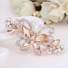 1PCS Women Fashion Crystal Rhinestone Pearl Hair Claw Clip Beauty Butterfly Flower Barrette Hairpins Tiara Accessories