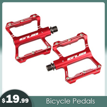цены Road Bike Bicycle Pedals 3 Colors Cycling Ultralight Aluminum Alloy MTB Pedals Bicicleta Bike Pedals Flat BMX Bike Accessories