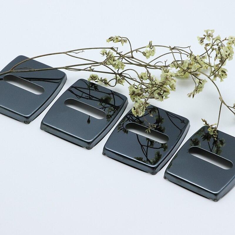 4 個の自動ケースステンレス鋼ドアロックバックル保護カバー Bmw x4 F26 G02 車スタイリング