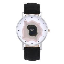 Женская Мода Повседневное PU Кожаный ремешок аналог кварцевые круглые часы 2019 Топ брендовые Женевские часы Бизнес наручные часы