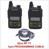2 cái x đài phát thanh baofeng BF-T1 UHF 400-470 MHz 1 Wát 20CH Xách Tay Mini Nhỏ Ham FM walkie talkie Với Tai Nghe + 1 cái cáp Lập Trình