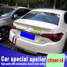 цена на c4 for citroen c4 2012 2014 2015 2016 spoiler rear trunk rear wing spoiler by primer or any color paint ABS material