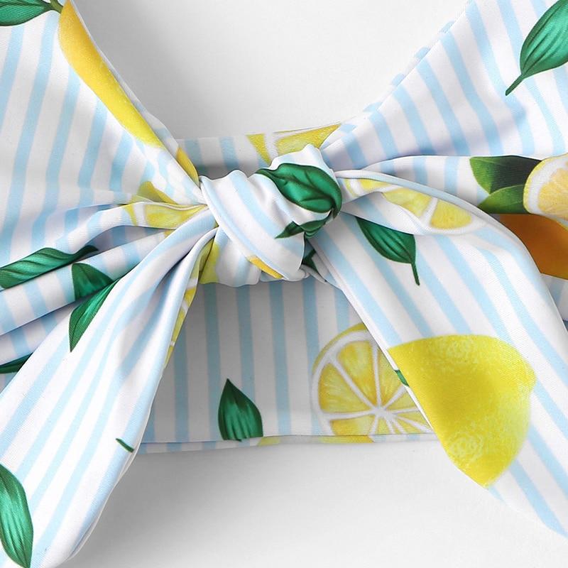 Lemon Print Knot Bikini 8