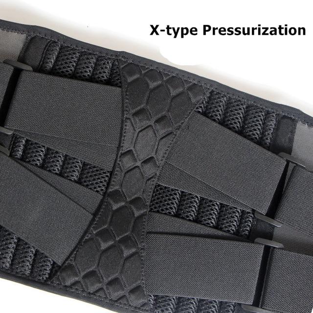 Lumbar Waist Support Belt Strong Lower Back Brace Support Corset Belt Waist Trainer Sweat Slim Belt for Sports Pain Relief New 4