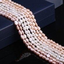 236a81c44fc5 Natural de agua dulce perlas cultivadas perlas para la fabricación de la  joyería DIY pulsera de