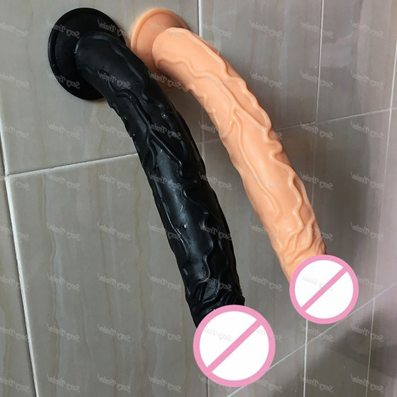 high quality 35*5CM Big <font><b>Dildo</b></font> with Suction Cup Super Soft Silicone Horse <font><b>Dildo</b></font> <font><b>Sex</b></font> <font><b>Toys</b></font> <font><b>for</b></font> <font><b>Women</b></font> Adult Huge Penis <font><b>Sex</b></font> Products image