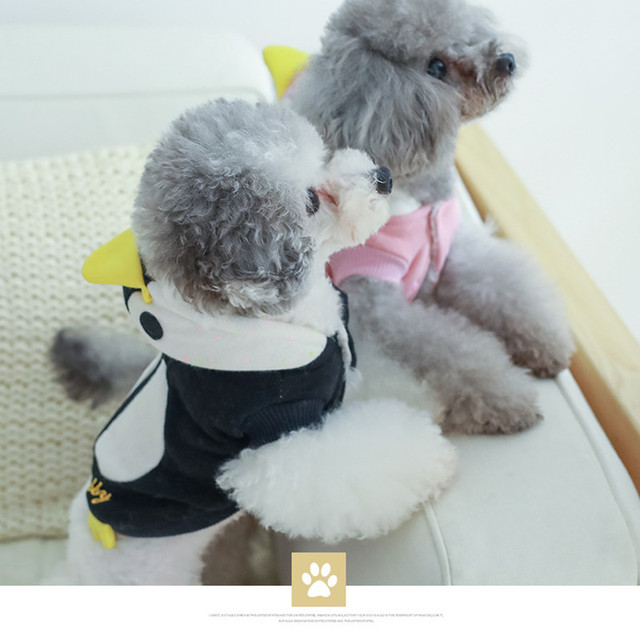 e4e61e862089 Cute Halloween Penguin Dog Puppy Costume Winter Warm Fleece Small ...