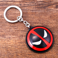 JM Animal Deadpool Rotatable Keychain Jewelry Super Hero Dead Pool Logo Alloy Key Holder For Fans Llavevo Dropshipping