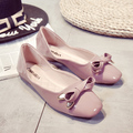 2016 New Fashion Spring summer shoes women Flats Ballet loafers with bow Luxury  Genuine  breathable ladies