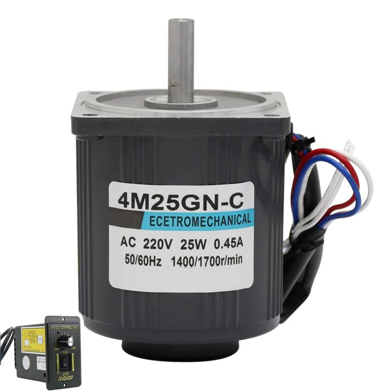 1400RPM 2800RPM Induction Motor 25W 220V AC Motor