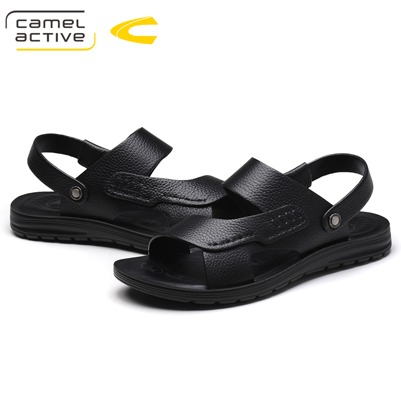 42c0bbebac40e Camel Active New Fashion Summer Sandals Men Shoes 2018 Brand Breathable  Quality Leather Beach Sandals Comfy Simple Men s Sandals-in Men s Sandals  from Shoes ...