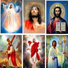 Icône religieux jésus en Diamant broderie 5d, bricolage, Point De Croix, image par numéros pour couture